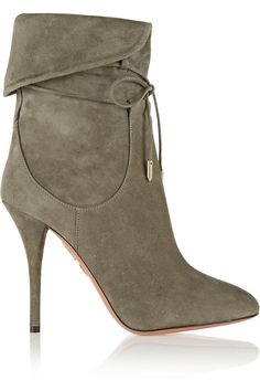 2f8639e47 Aquazzura + Olivia Palermo suede ankle boots on Wantering