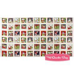 Novelty Christmas White Labels Quilt Panel SKU# 1120-1
