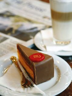 Cafe Central, Vienna  (been there) (Sacher torte -- I had the original at the Sacher Hotel we stayed at)