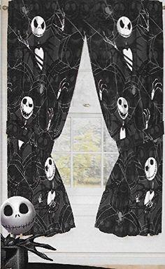 Original Nightmare Before Christmas Curtains/drapes 4 Pieces Set Window Panels Disney Disney http://www.amazon.com/dp/B016YTMGPW/ref=cm_sw_r_pi_dp_2VWZwb185KDWF