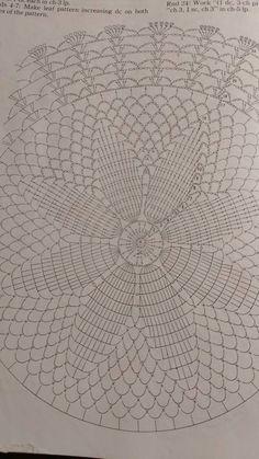 Luty Artes Crochet: Toalhinha de crochê com gráfico