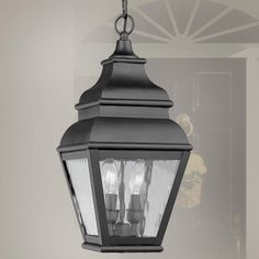By Livex Lighting Exeter Collection Black Outdoor Hanging
