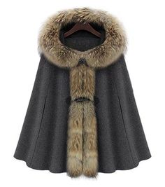 Hooded Sleeveless Cloak Coat
