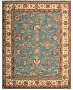 "MANUFACTURER'S CLOSEOUT! Nourison Area Rug, Persian Legacy PL02 Azure 9' 9"" x 13' 9"" - Rugs - Macy's"