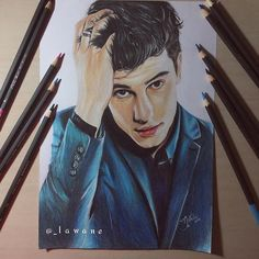 Amazing drawing of Shawn by @_lawane #shawnmendes#mendesarmy#Illuminate