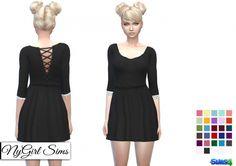 Gathered Corset Back Dress at NyGirl Sims via Sims 4 Updates