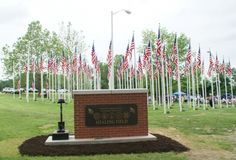 The Healing Field located in Lawrenceburg KY. A field of flags for every KY soldier killed in the war on terror. Right across from my high school! American Legion Auxiliary, American Legions, Troops, Soldiers, Lawrenceburg Kentucky, I Love America, In Loving Memory, Small Towns, Flags