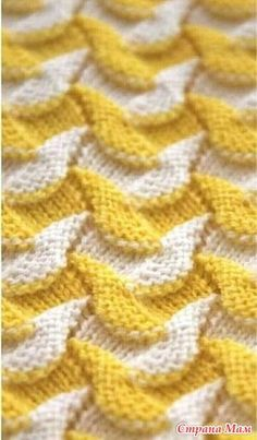 """Искать узор """"Try with any stitch pattern that undulates."""", """"Maybe a higher contrast. Deep blue and cream? Baby Knitting Patterns, Knitting Charts, Lace Knitting, Knitting Designs, Knitting Stitches, Fabric Patterns, Crochet Lace, Stitch Patterns, Crochet Shawl"""