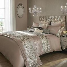 icu ~ Pin on Bedding ideas ~ 27 Sep 2019 - Kylie Minogue Bedding Range Designer PETRA NUDE Matching Accessories Available in Home, Furniture & DIY, Bedding, Bed Linens & Sets Glam Bedroom, Home Bedroom, Bedroom Ideas, Silver Bedroom Decor, Mirrored Bedroom, Master Bedrooms, Master Suite, Kylie Minogue At Home, Bed Linen Sets