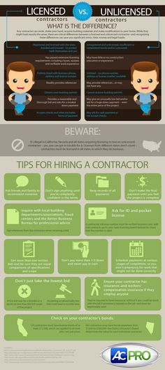 This is a great infographic to look at for tips when hiring a contractor for your home. #DIYHOMES #FF @KodiakHomes