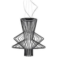 Foscarini Allegro Ritmico LED Suspension ($6,310) ❤ liked on Polyvore featuring home, lighting, ceiling lights, wave lamp, metal lamp, foscarini lighting, music lights and foscarini lamp