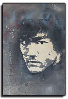 "Follow me at : www.facebook.com/... Bruce Lee - DENAMBRIDE   Concrete Canvas 24""x36""x1.75"" www.denambride.com"