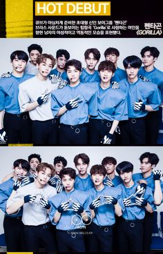 pentagon inkigayo debut, pentagon cube debut, pentagon kpop profile, pentagon kpop member, pentagon survival, pentagon photos, pentagon 2016 debut, pentagon gorilla debut stage, pentagon fancam