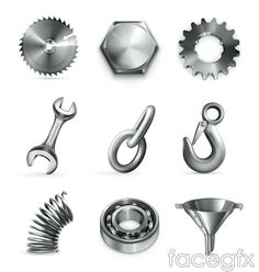 Metal tool icon vector