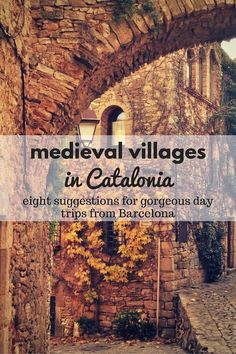 Looking for beautiful medieval villages in Catalonia? We have some great suggestions for you! These places can each be fit into a day trip from Barcelona, and are absolutely lost in time!