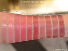 Chanel Rouge Coco Swatches of All Shades