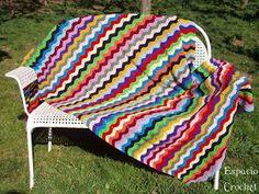 Espacio Crochet: Manta ganchillo zig-zag