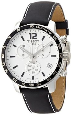 Men's Wrist Watches - Tissot Mens T0954171603700 Quickster Analog Display Swiss Quartz Black Watch -- Check out this great product. (This is an Amazon affiliate link)