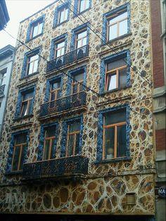 Brussels (Belgium) decorated building.
