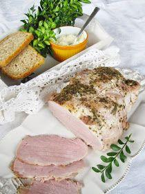 Posadzone i zjedzone: Świąteczna wędlina - pieczona szynka w rękawie Smoking Meat, Sausage, Pork, Kale Stir Fry, Sausages, Pork Chops, Chinese Sausage