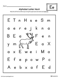 Alphabet letter hunt letter a worksheet preschool and alphabet letter hunt letter e worksheet worksheete letter e alphabet letter hunt is a fun activity that helps students practice recognizing the ibookread Download