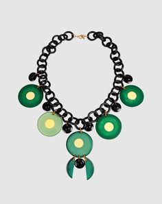 Vintage Bakelite necklace from the Iris Apfel Collection on Yoox. Gulp.