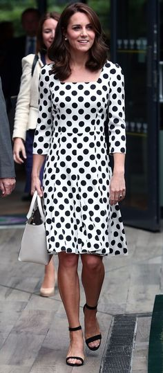 Catherine, Duchess of Cambridge in Dolce & Gabbana attends Wimbledon. #bestdressed