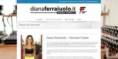 Sito realizzato per per la personal trainer  Diana Ferraiuolo