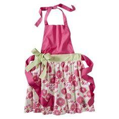 Flowery pink apron