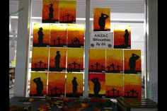 ANZAC silhouettes Remembrance Day Poems, Remembrance Day Activities, Primary School Art, Elementary Art, Silouette Art, Ww1 Art, Poppy Craft, Armistice Day, Anzac Day