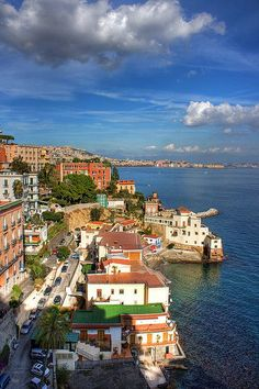 Napoli (Naples), Campania Region, Italy. The port of Naples is one of the most important in Europe, and has the world's second-highest level of passenger flow, after the port of Hong Kong.