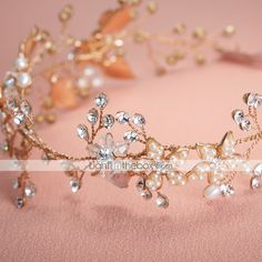 Women Pearl/Rhinestone/Alloy Headbands With Wedding/Party Headpiece More Colors 2015 – $63.93