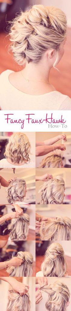 faux hawk haircut tutorial
