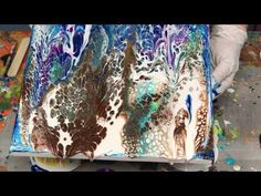 Acrylic Pour Painting: Create Cells With Easy Swipe Technique Part 2 - YouTube