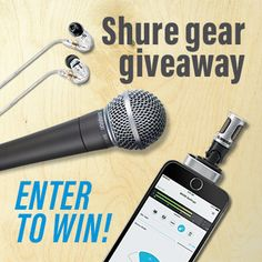 Enter to win Shure gear that Crutchfield is giving away