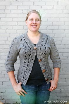 Valley Yarns Loire Cardigan knit by Greta S.  in just 2 weeks while on vacation. This is a fun and QUICK knit in Valley Yarns Northampton Bulky yarn. #knittingpatterns