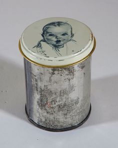 Vintage Gerber Baby Food Tin Can