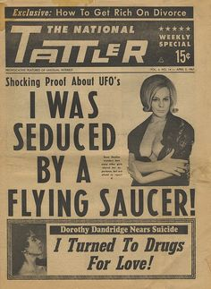 17 Funny Pics & Memes to Medicate Your Humor Bone - Team Jimmy Joe Funny Headlines, Newspaper Headlines, Old Newspaper, Vintage Advertisements, Vintage Ads, Vintage Photos, Pulp Fiction, Science Fiction, Pseudo Science