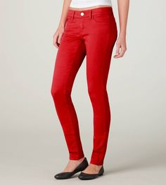 American Eagle jeggings in red.. ( i cheated, and bought these over the weekend.. how could i not at 40% off!)