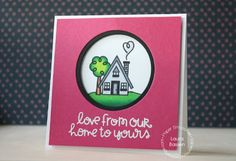 Card by PS DT Laura Bassen using the PS Bitty Bungalows stamp set