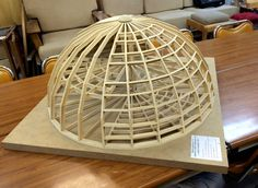 3d Model Architecture, Concept Architecture, Dome Structure, Geodesic Dome Homes, Dome House, Small Buildings, Woodworking Jigs, Carpentry, Glass Domes