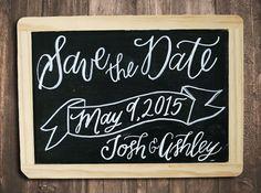 Custom Save The Date Chalkboard Sign