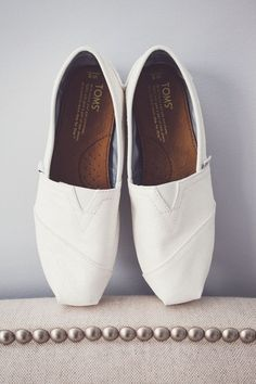 white bridal toms! // photo by AngelaReneePhoto.com