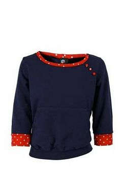 Sweatshirt refashion  - sleeves and collar are doubled knit jersey fabric serged to cuffs.