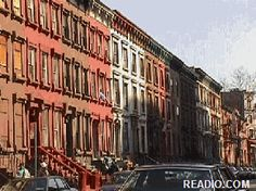 Photo of the beautiful Harlem Brownstones and Harlem Rowhouses in Harlem NYC.