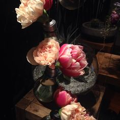 fabulous vancouver wedding Winter's night and the tulips and carnations in the lightbulb candelabra vases look so lovely in the light as I locked up the shop. #secretgarden #yvrflorist #yvr #fullbloomflowers #wintersnight #painting #flowerart #flowerlove #flowerpower #vancouverflorist #vancouver #interiordecor #decor #prettythings #tulips #carnations by @studiofullbloom  #vancouverflorist #vancouverwedding #vancouverweddingdecor #vancouverwedding
