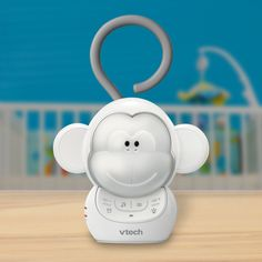 Long road trip on the calendar? Help baby feel as cozy as can be with Myla the Monkey, a cute new portable soother. Just hook Myla's stretchable tail onto the car seat, a handle, or the back of daddy's seat and leave the rest to her. With 5 lullabies, 5 soft sounds and a rechargeable battery, Myla is ready for any adventure the day may bring.