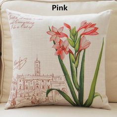 Flower pillow hand painted art decorative pillows for couch
