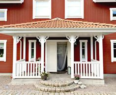 Förstukvist med konsol 004 Pergola, Shed, Outdoor Structures, Outdoor Decor, Home Decor, Houses, Google, Homes, Lean To Shed