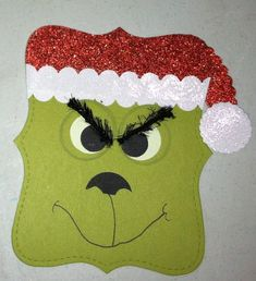 Top Note Die Grinch Punch Art #Stampinup #punchart